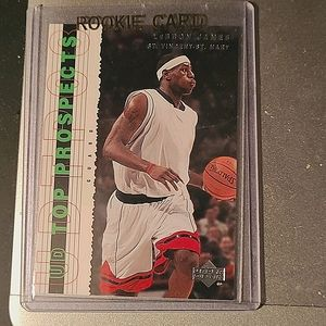 LEBRON JAMES(THE 🤴)-upperdeck ROOKIE card